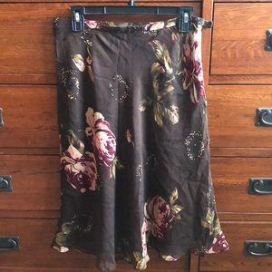 NWT Charter Club 100% silk skirt size 8